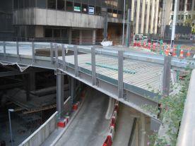 Estacade routière chantier BUREF La Défense