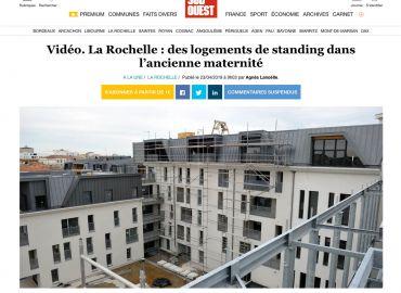 DAUFIN, prestataire du chantier de l'ancienne maternité de La Rochelle